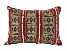 "Moroccan Cushion Vintage Kilim Stuffed  Wool  52 cm x 40 cm / 20.5"" x 16"" (VC308)"